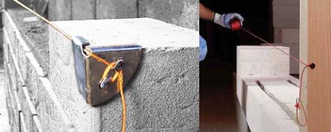 уголки для причалки каменщика своими руками