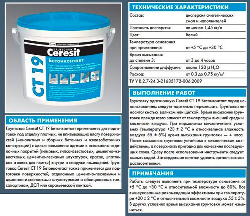 кнауф бетоноконтакт технические характеристики