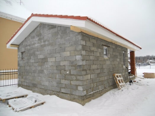 Фундамент для бани из пеноблоков