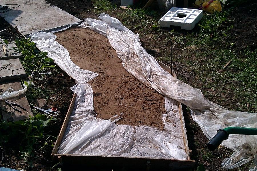 как залить бетонную дорожку на даче