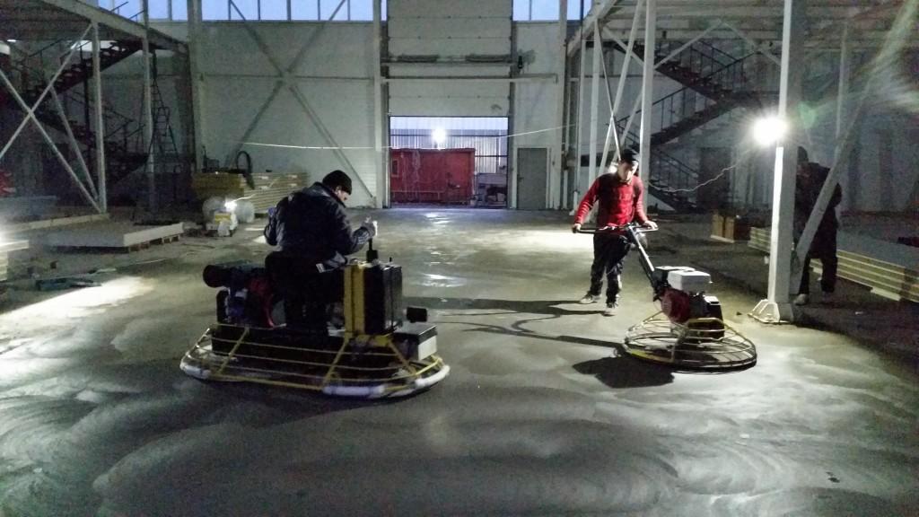 затирка вертолетом бетонного пола цена