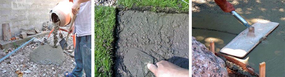 садовые дорожки состав раствора