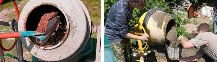 как правильно мешать цемент в бетономешалке