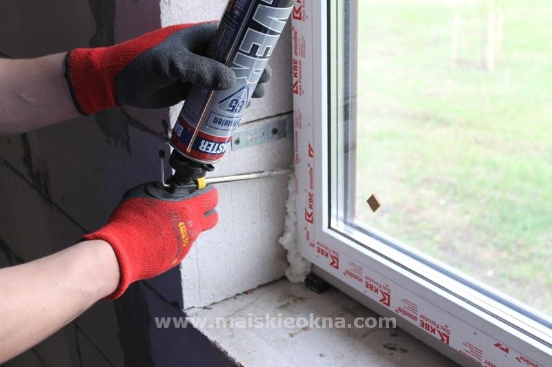 как установить окно в пеноблок