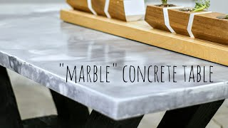 "DIY ""Marble"" Concrete Table 