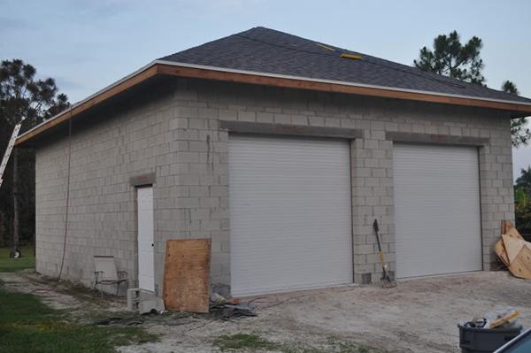 гараж из блоков под ключ цена