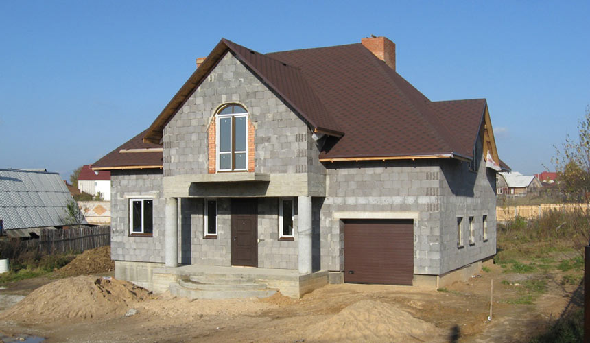 построить дом из керамзитобетонных блоков цена
